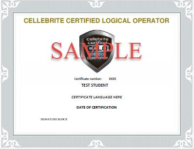 sample cellebrite certifiate